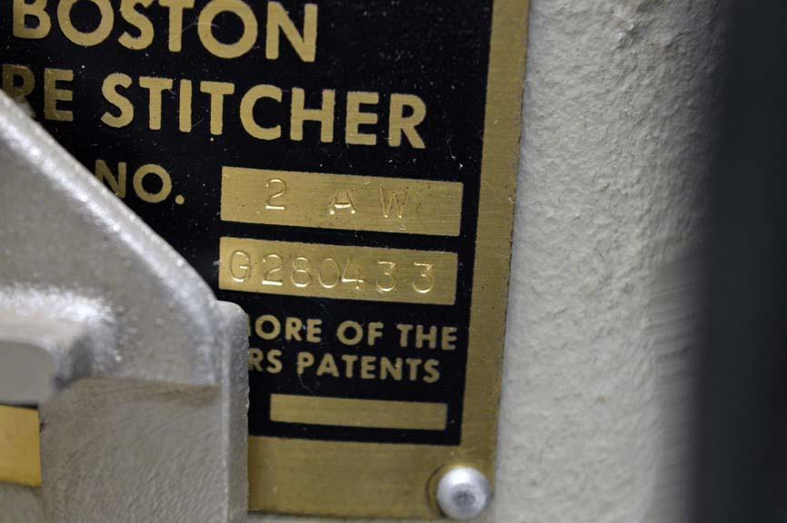 BOSTITCH ONE HEAD STITCHER, SN # G280433, MODEL NO. 2 AW 0