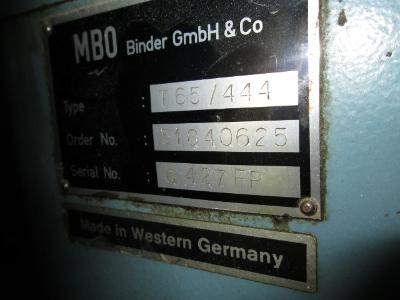 MBO FOLDER T-65 YEAR 1989, SN# G427-FP 1
