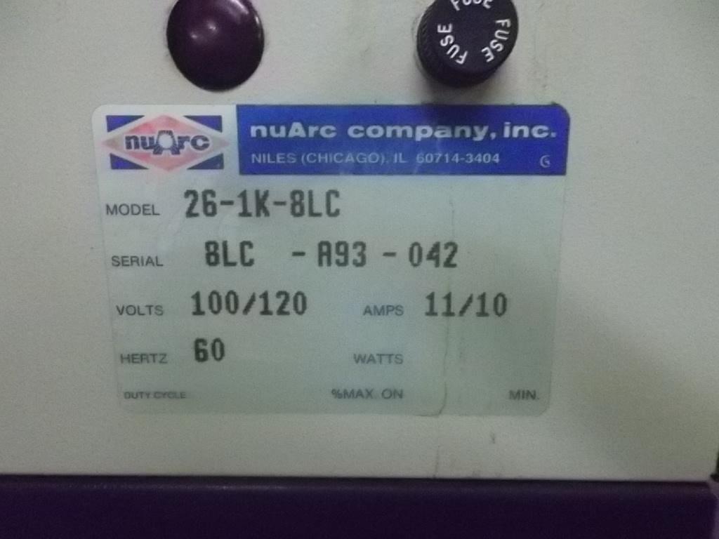 """NUARC 26-1K, SN# 8LC-A93-042, 26""""  7"""