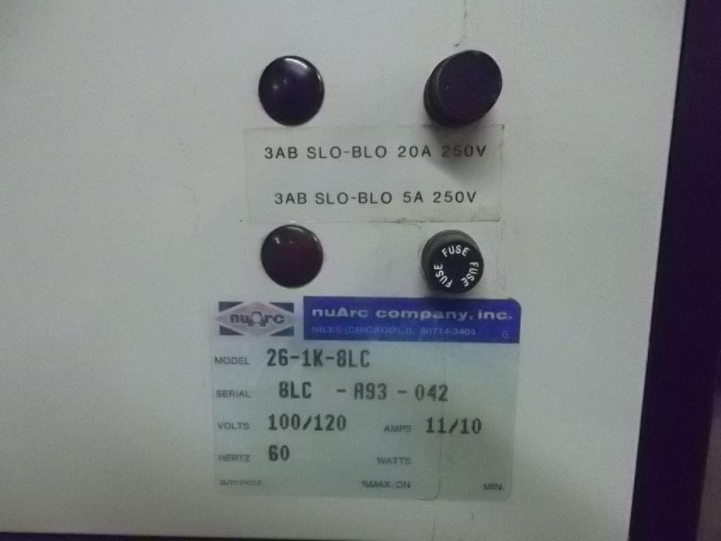 """NUARC 26-1K, SN# 8LC-A93-042, 26""""  9"""