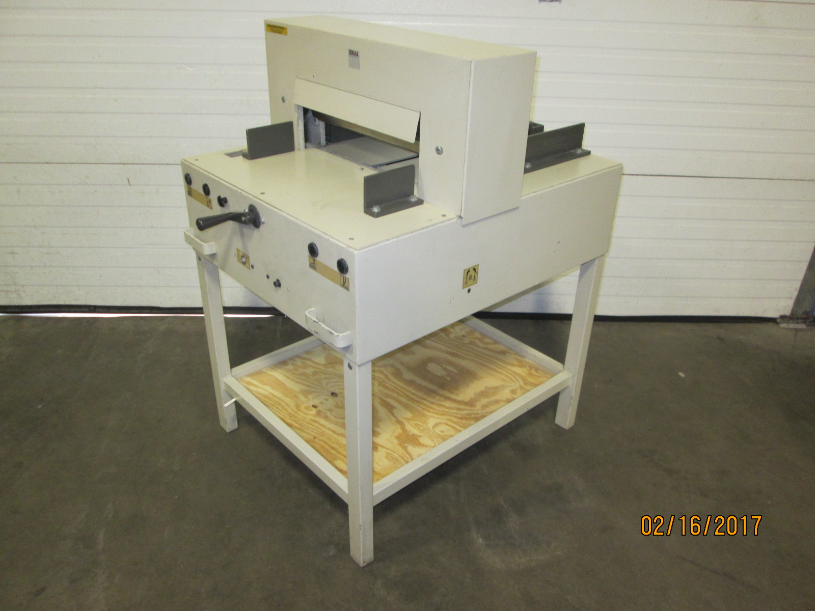 "IDEAL CUTTER  4810-95, 18"", (43 CM), SN# 2593133, YEAR:  06/2004 2"