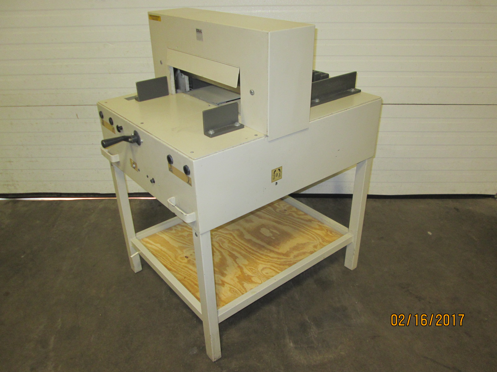 "IDEAL CUTTER  4810-95, 18"", (43 CM), SN# 2593133, YEAR:  06/2004 3"