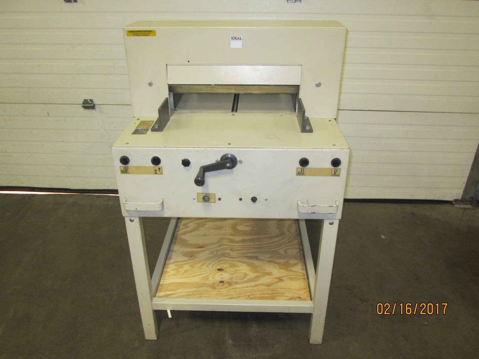 "IDEAL CUTTER  4810-95, 18"", (43 CM), SN# 2593133, YEAR:  06/2004 83"