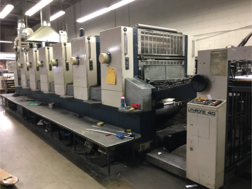 KOMORI L640 WITH RETRACTABLE COATER 1992/93 13