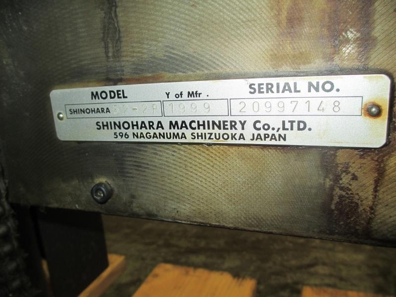1999 SHINOHARA 52-2P,   TWO COLOR PRESS,  SHINOHARAMATICS DAMP 3