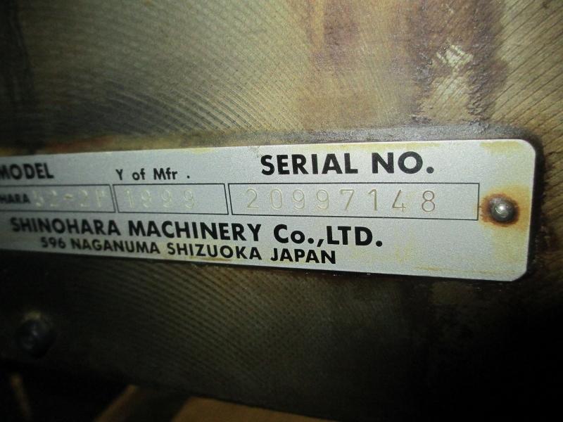 1999 SHINOHARA 52-2P,   TWO COLOR PRESS,  SHINOHARAMATICS DAMP 18