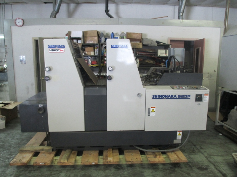 1999 SHINOHARA 52-2P,   TWO COLOR PRESS,  SHINOHARAMATICS DAMP 54
