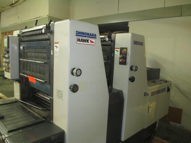 1999 SHINOHARA 52-2P,   TWO COLOR PRESS,  SHINOHARAMATICS DAMP 14