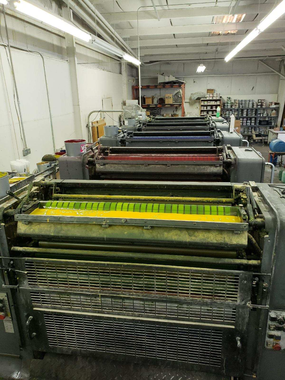 HEIDELBERG SM 102FP H+ L WITH TOWER COATER, YEAR: 1994, SN # 537 043 5