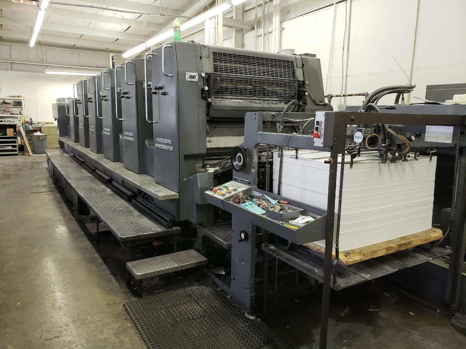 HEIDELBERG SM 102FP H+ L WITH TOWER COATER, YEAR: 1994, SN # 537 043 16