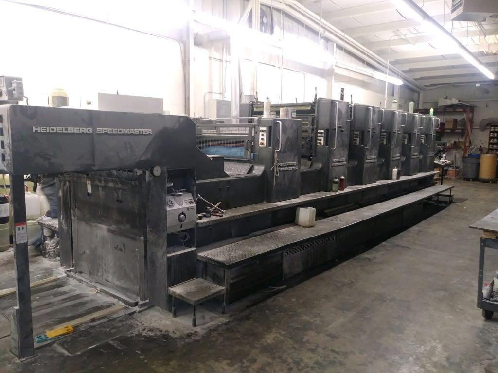 HEIDELBERG SM 102FP H+ L WITH TOWER COATER, YEAR: 1994, SN # 537 043 11