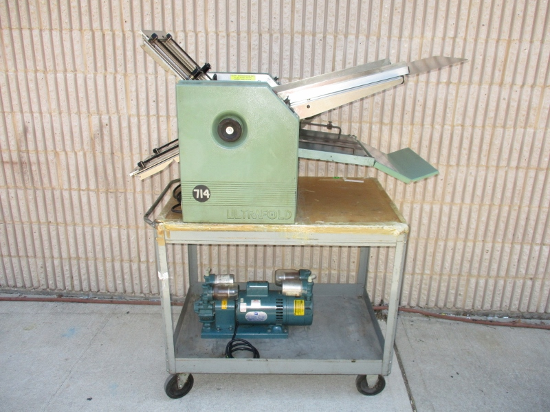 BAUM 714 AIR FEED FOLDER, SN# 88-H-107, MODEL 714-B-2-AIR 8