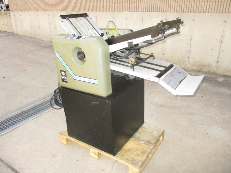 BAUM 714XLT AIR FEED FOLDER, SN# 014MA0059 80