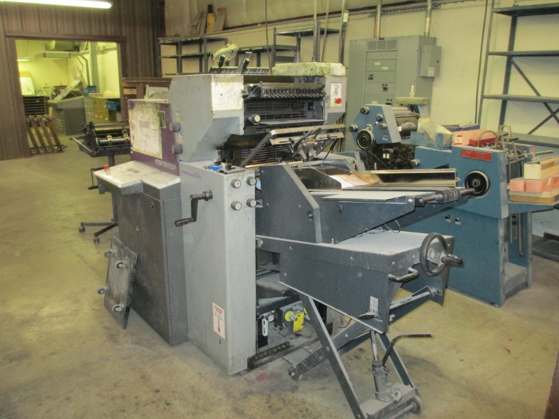 1999 HEIDELBERG PRINTMASTER 46-2, WITH NUMBERING  & ENVELOPE FEEDER 77