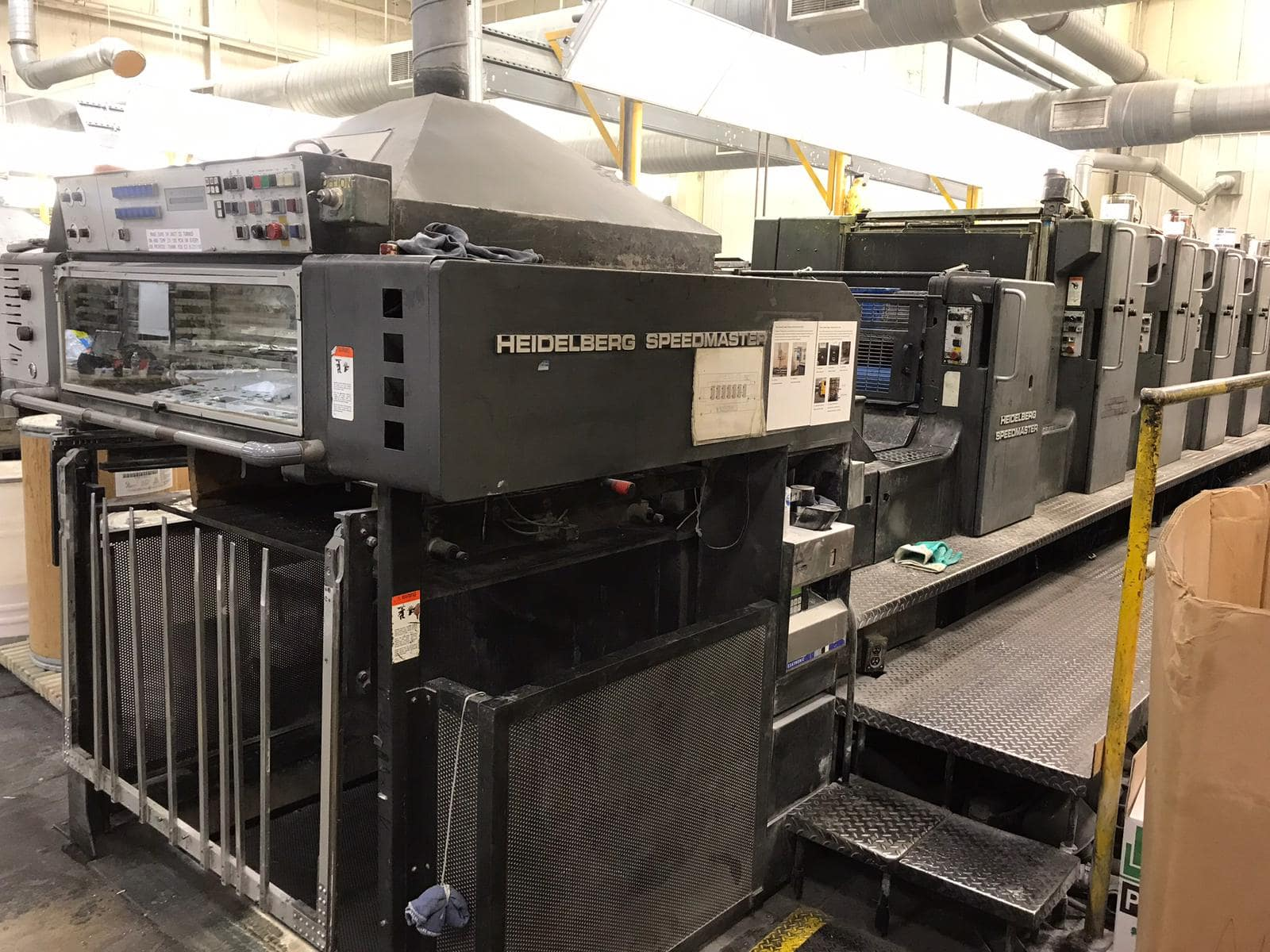 HEIDELBERG SM 102SP+ L WITH TOWER COATER, YEAR: 1993/94, AUTOPLATE WITH AUTO LOADER 0