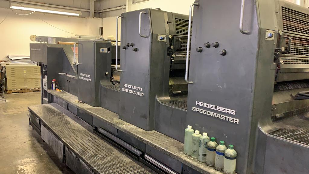HEIDELBERG SM 102FP H+ L WITH TOWER COATER, YEAR: 1994, SN # 537 043 24