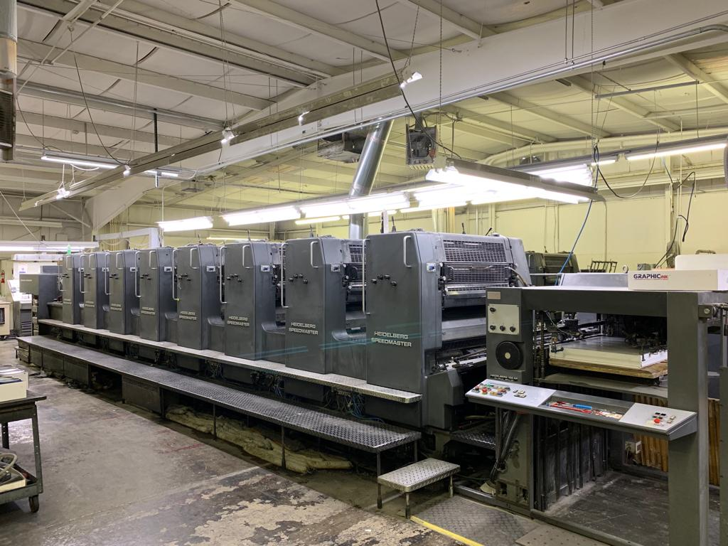 HEIDELBERG SM 102-8P H, YEAR: 1994, EIGHT COLOR PRESS 0
