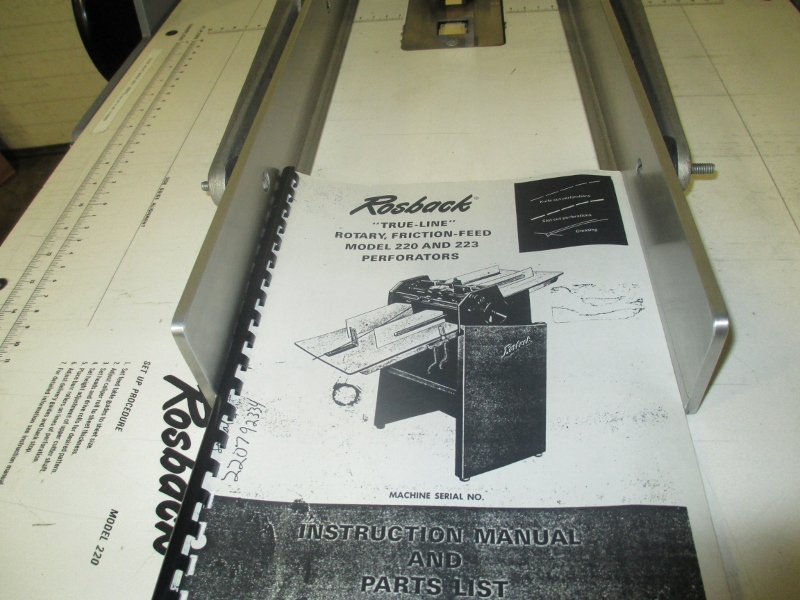 """ROSBACK 220 , PERF AND SCORE, 20"""", SN# 22070533 13"""