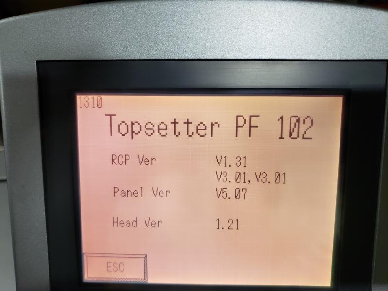 """2003 HEIDELBERG  [102 CM ]40"""" CTP-  TOPSETTER 12"""