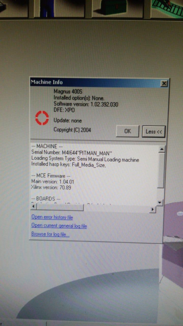 KODAK MAGNUS 400 THERMAL CTP, S/N 010-00355A, YEAR AUG 2007 13