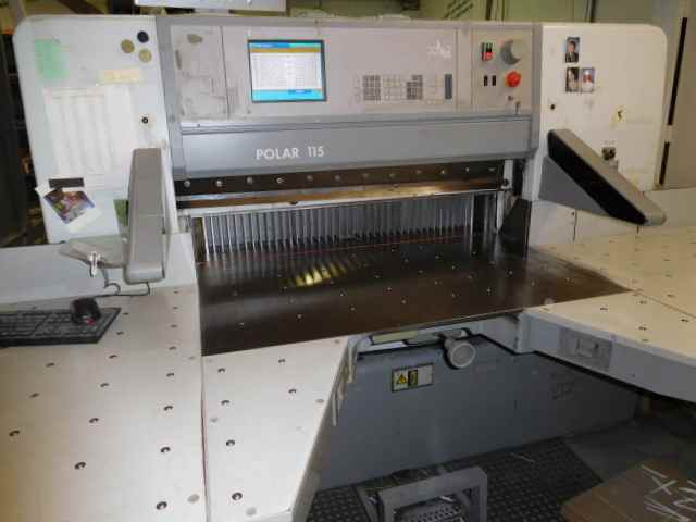 "POLAR 115E CUTTER, [115"" ]SN XXXX, YEAR: 1998, FACTORY PROGRAM 0"