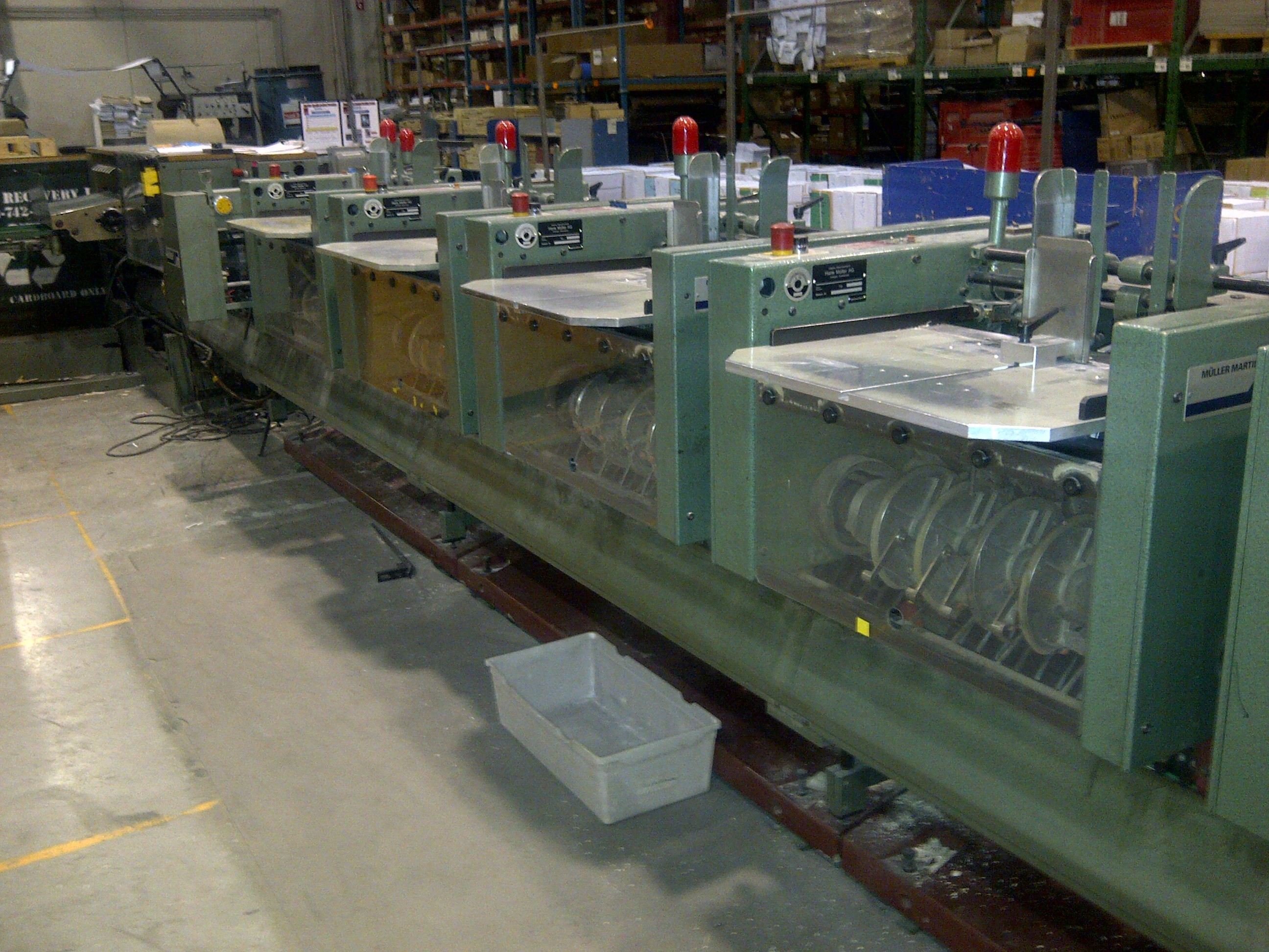 1993 MUELLER MARTINI 321, 7 POCKET- 335 MODEL WITH COVER FEEDER, SADDLE STITCHER, TRIMMER, & CONVEYOR, STACKER 17
