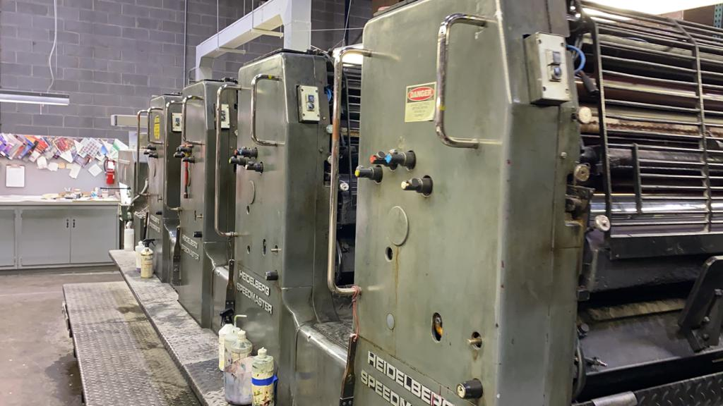 1986 HEIDELBERG SM 102F, SN # 523984, STRAIGHT PRESS 37